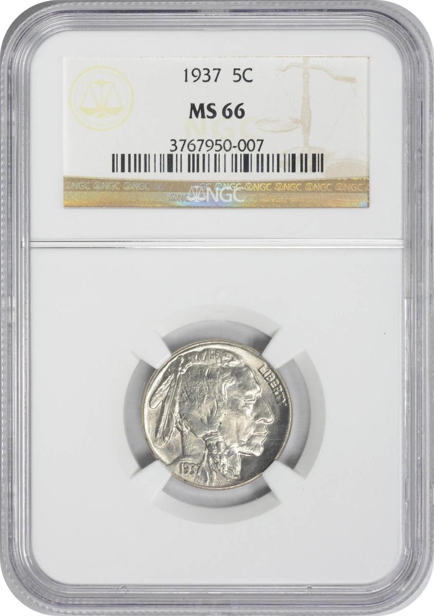 1937 Buffalo Nickel MS66 NGC