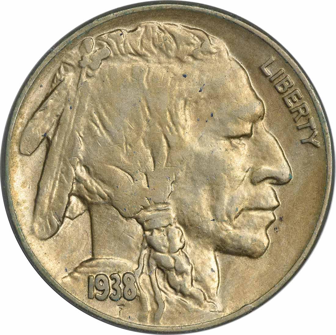 1938-D Buffalo Nickel AU Uncertified
