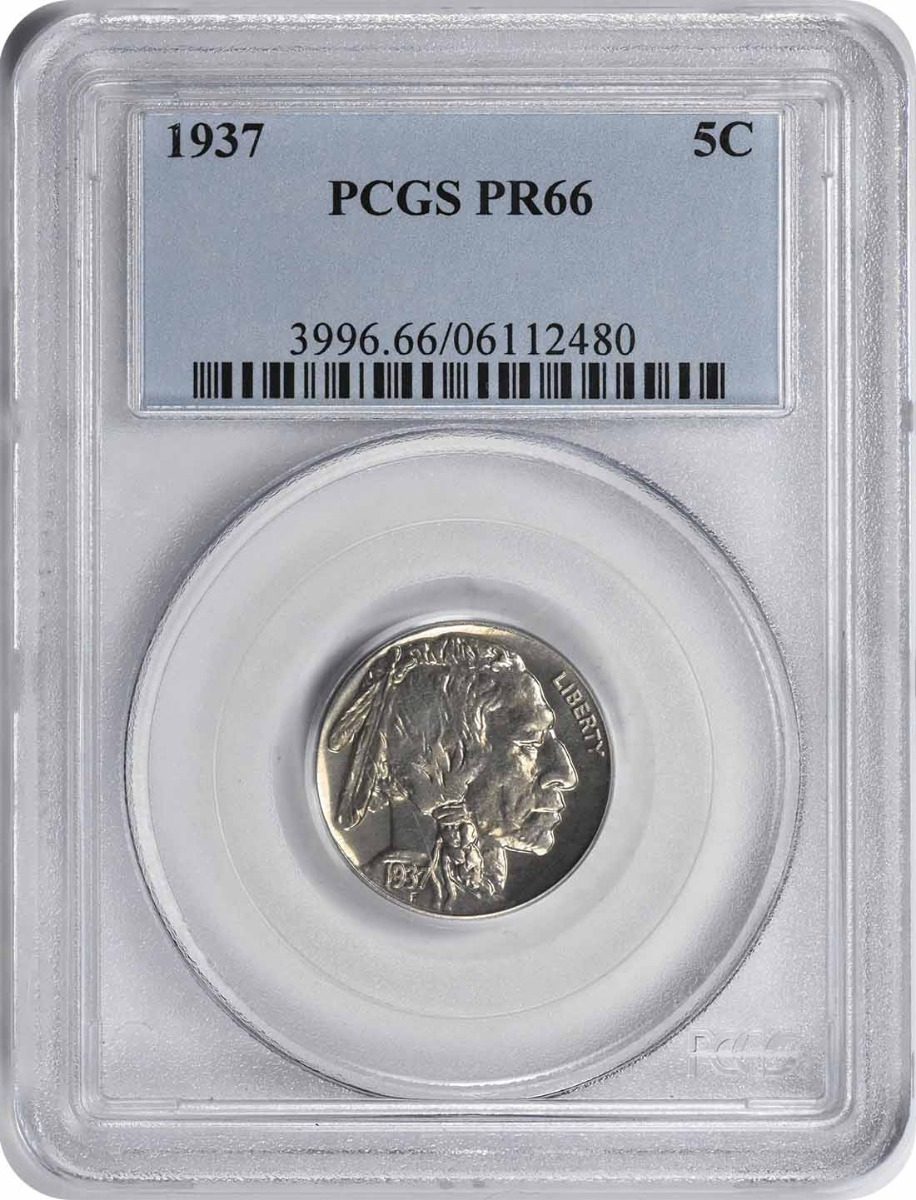 1937 Buffalo Nickel PR66 PCGS
