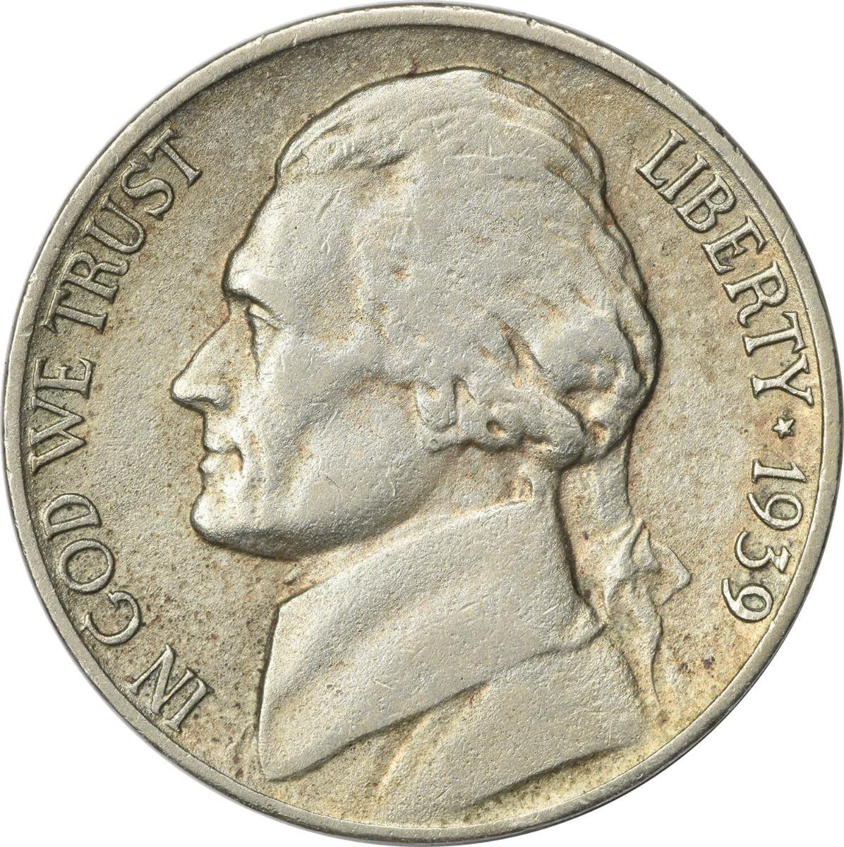 1939-D Jefferson Nickel EF Uncertified
