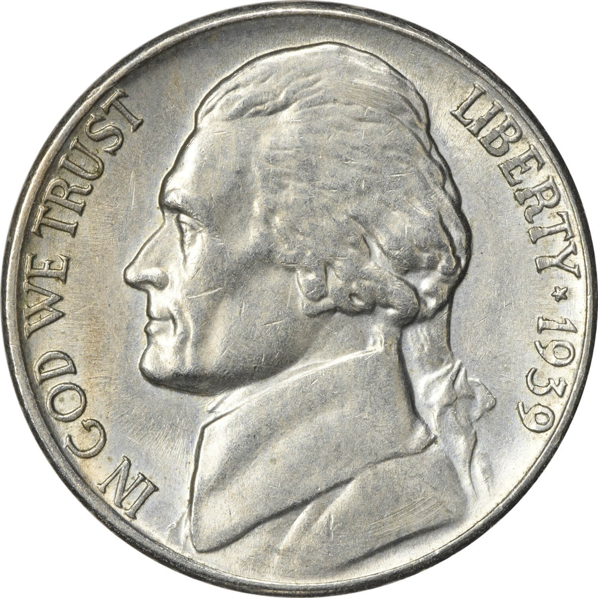 1939-S Jefferson Nickel AU58 Uncertified