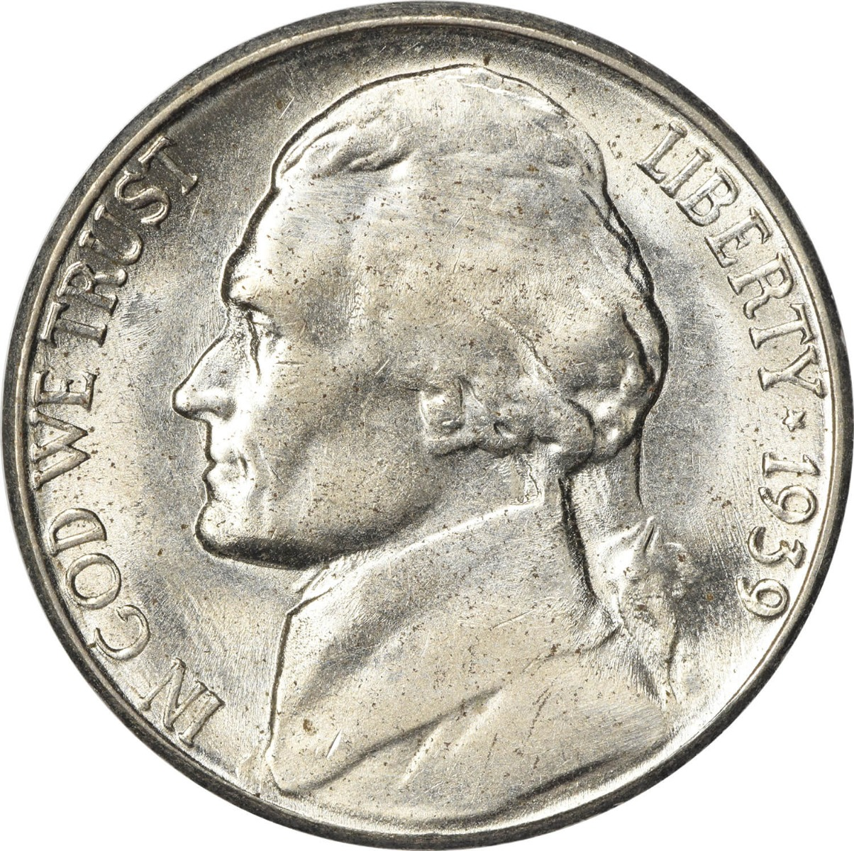 1939-S Jefferson Nickel MS60 Uncertified