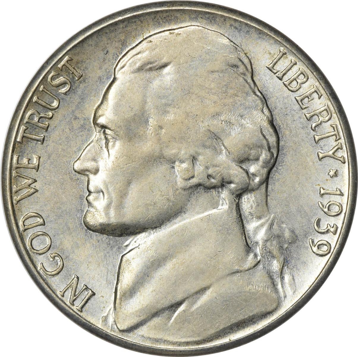 1939-S Jefferson Nickel MS63 Uncertified