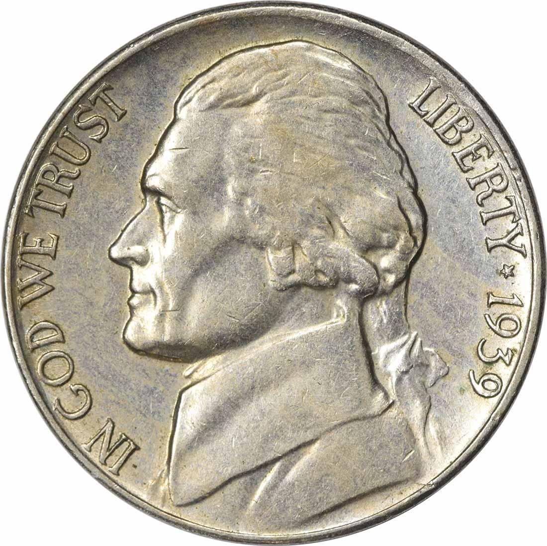 1939-S Jefferson Nickel AU Uncertified