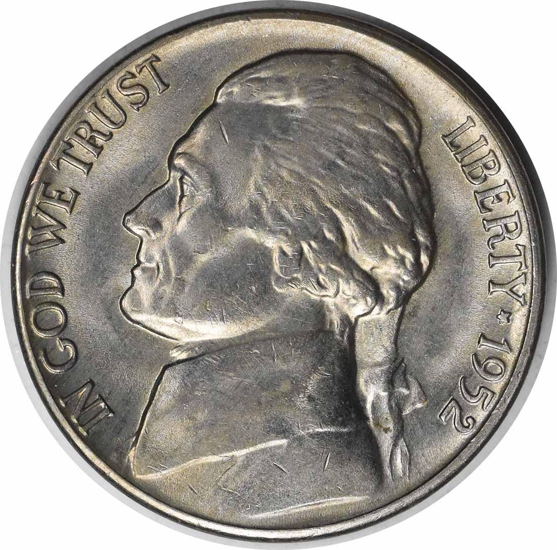 1952-D/D Jefferson Nickel RPM2 MS63 Uncertified