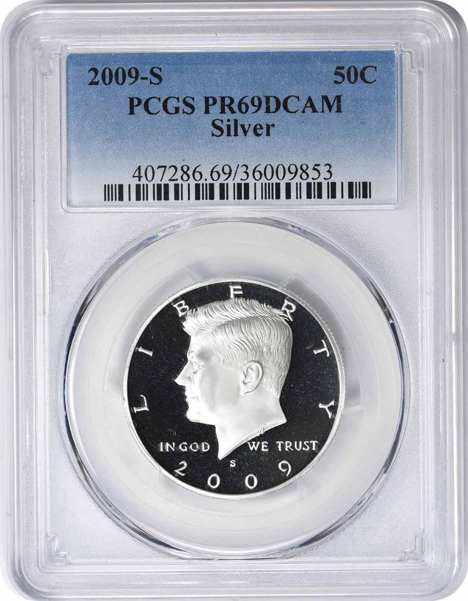 2009-S Kennedy Half Dollar, PR69DCAM, Silver, PCGS
