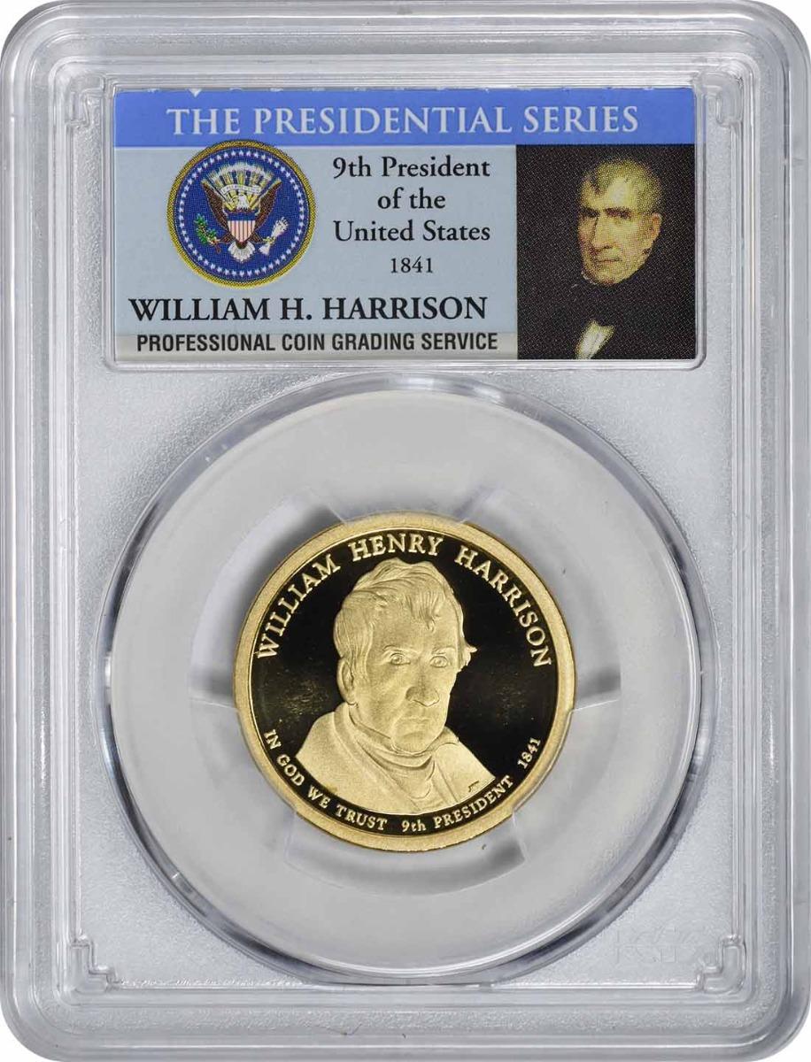 2009-S William Harrison Presidential Dollar PR70DCAM PCGS