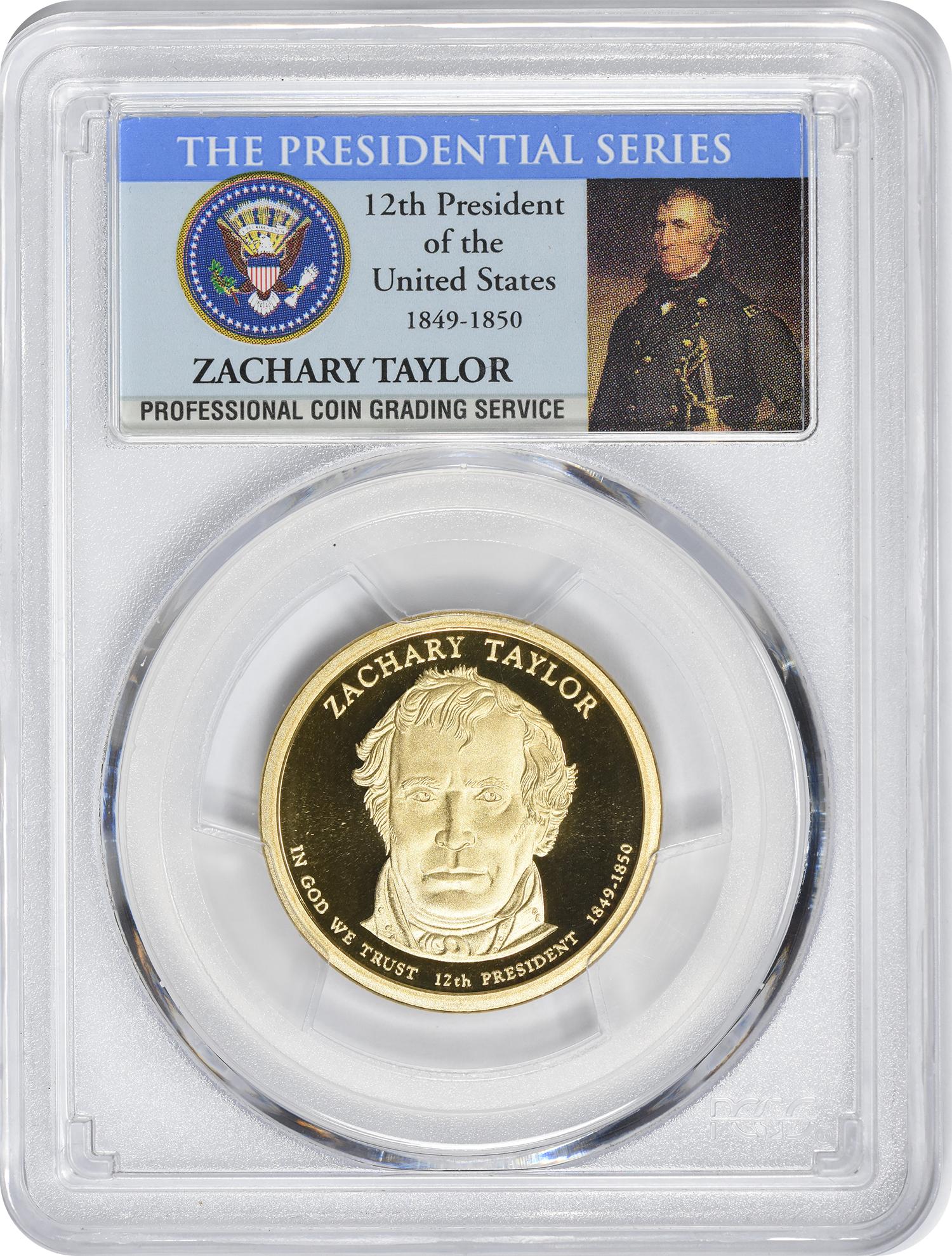 2009-S Zachary Taylor Presidential Dollar PR70DCAM PCGS