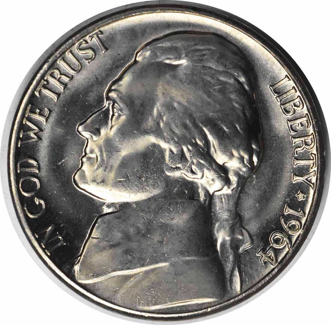 1964-D/D Jefferson Nickel RPM 1 MS64 Uncertified