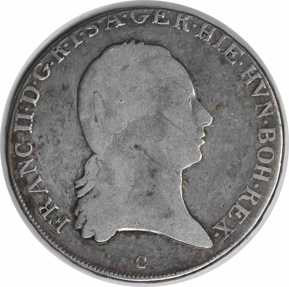 1797 C Austria Netherlands 1/2 Kronenthaler KM61.1 VF Uncertified