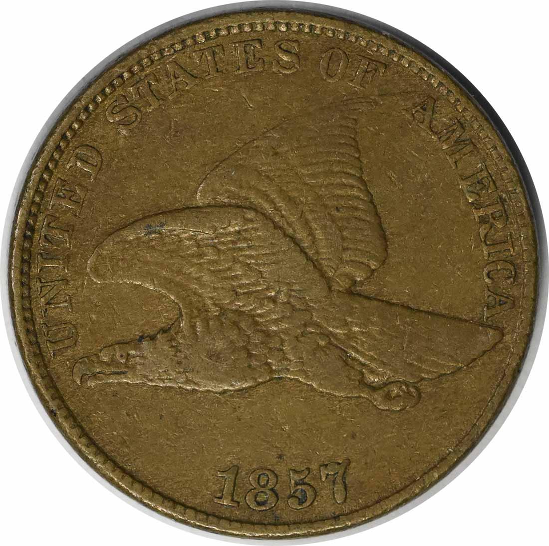 1857 Flying Eagle Cent DDO S-3 FS-105 EF Uncertified