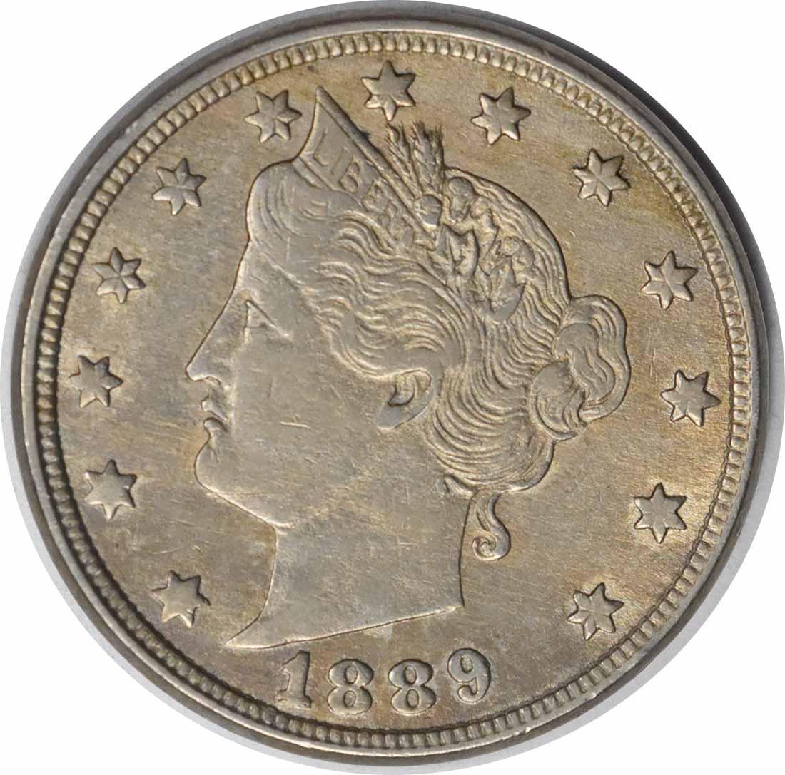1889 Liberty Nickel RPD FS-301 AU Uncertified #216