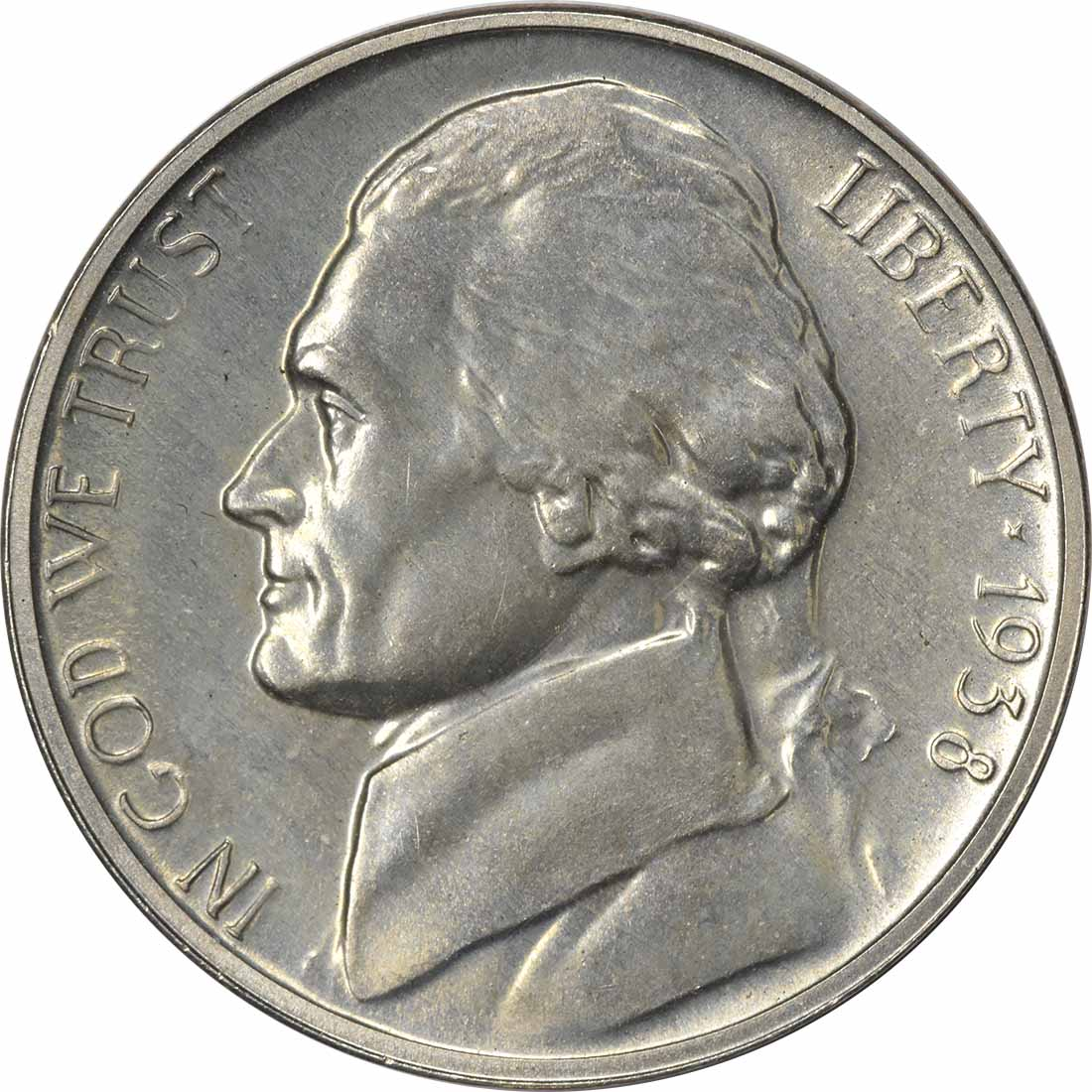1938 Jefferson Nickel PR64 Uncertified