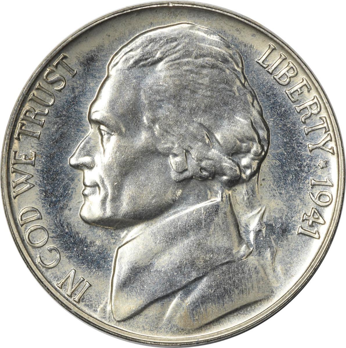 1941 Jefferson Nickel PR64 Uncertified