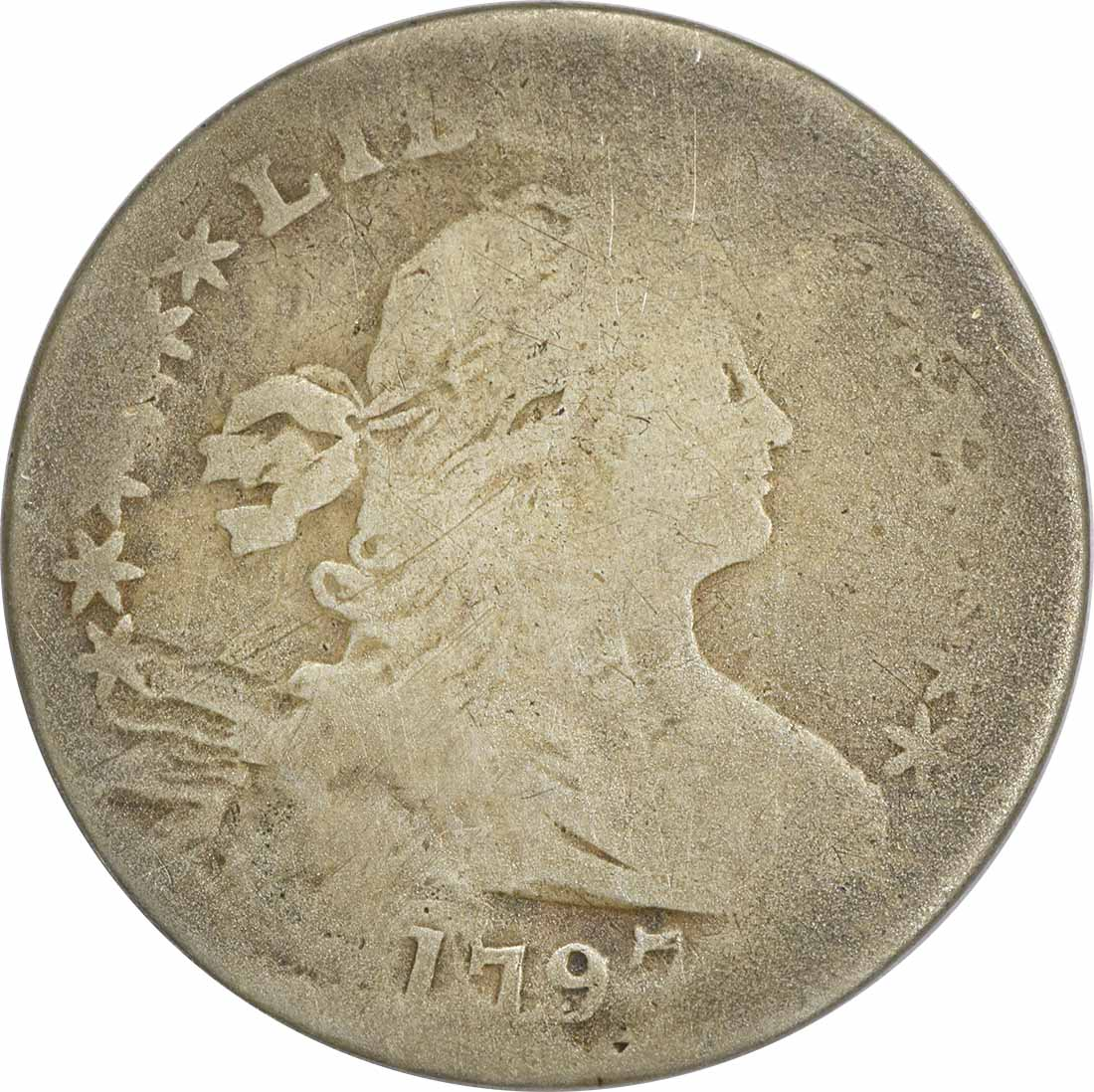 1797 Bust Silver Half Dime, AG, Uncertified