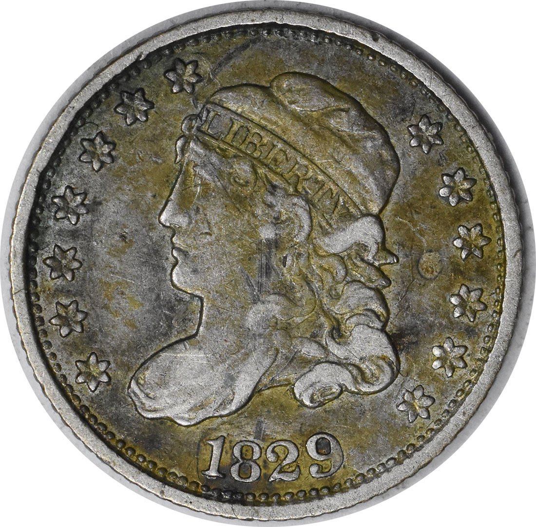 1829 Bust Silver Half Dime Choice EF Uncertified
