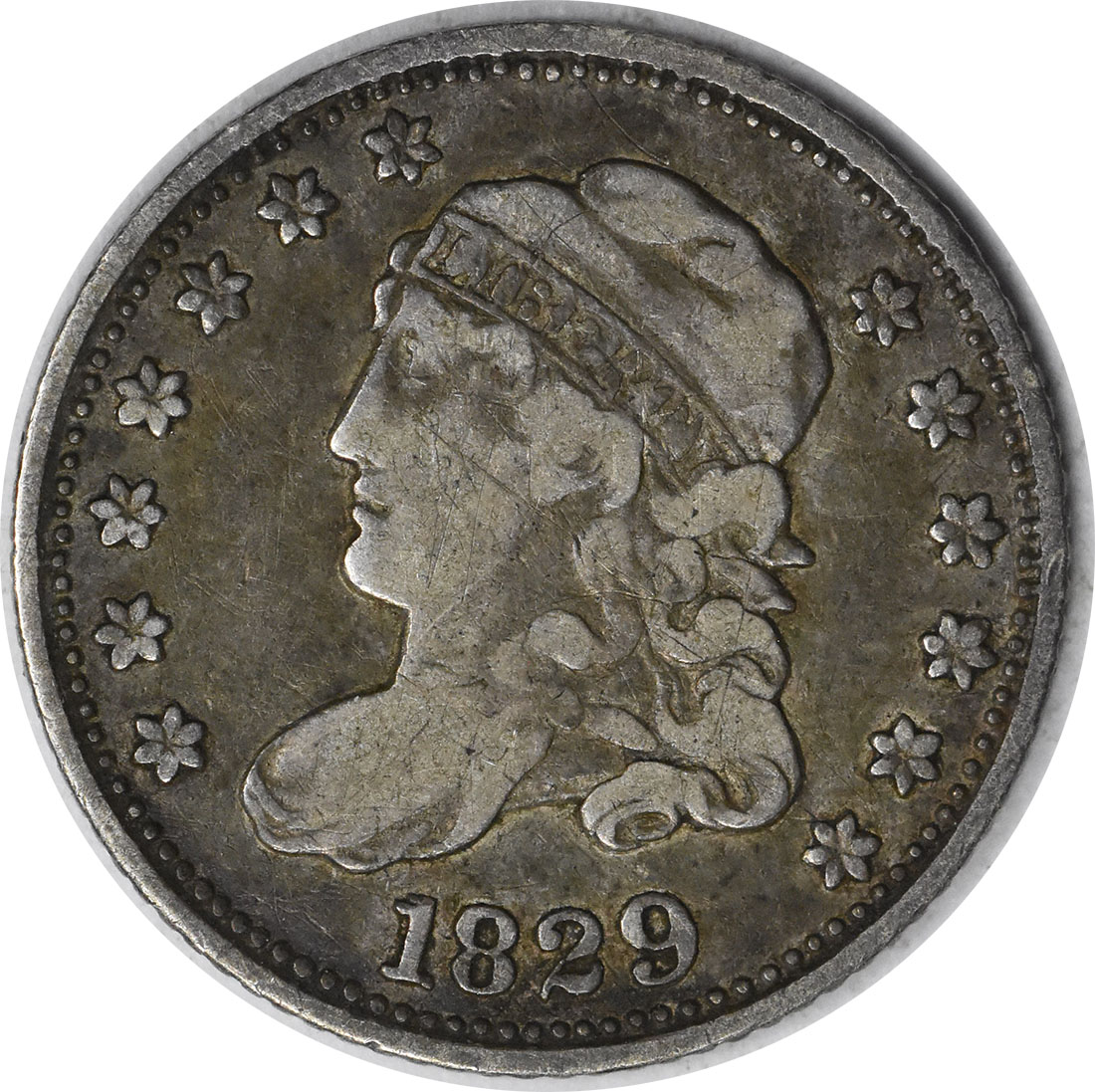 1829 Bust Silver Half Dime Choice VF Uncertified