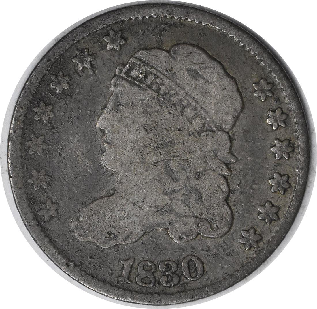 1830 Bust Silver Half Dime VG Uncertified