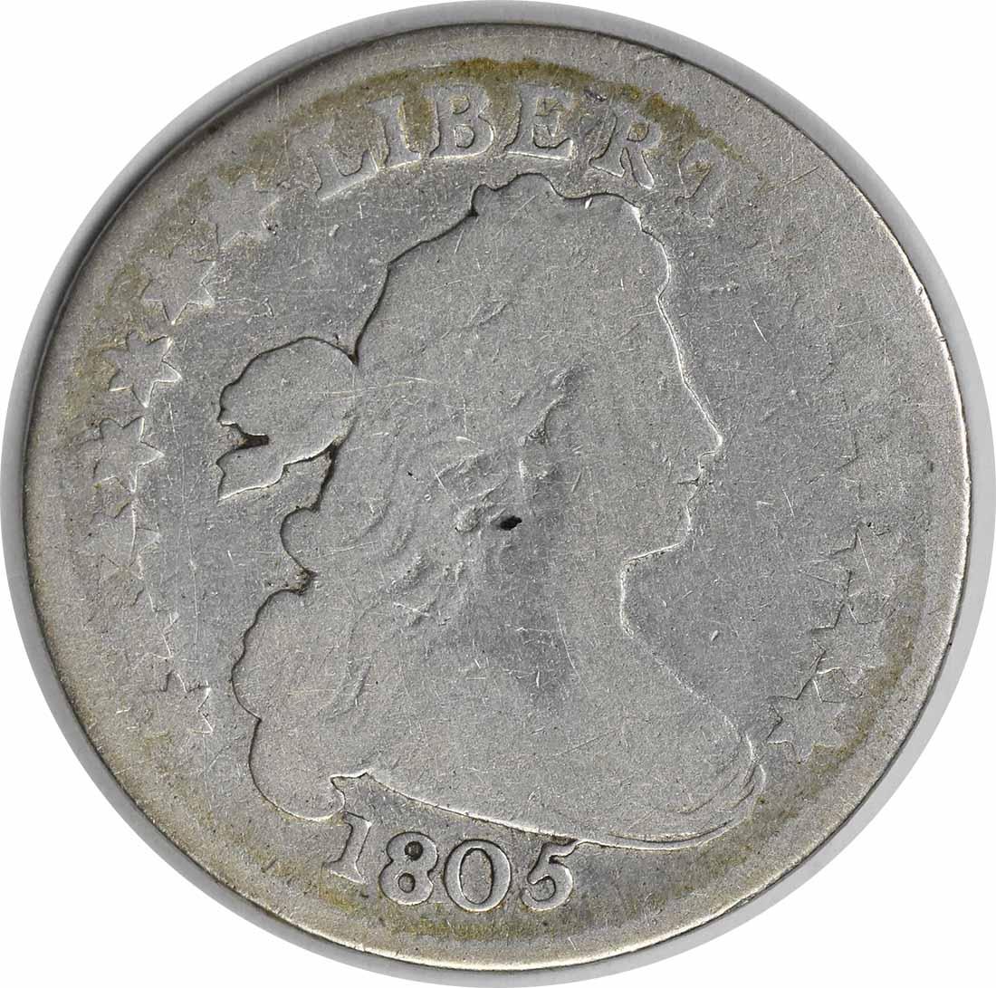 1805 Bust Silver Dime 4 Berries G Uncertified #238