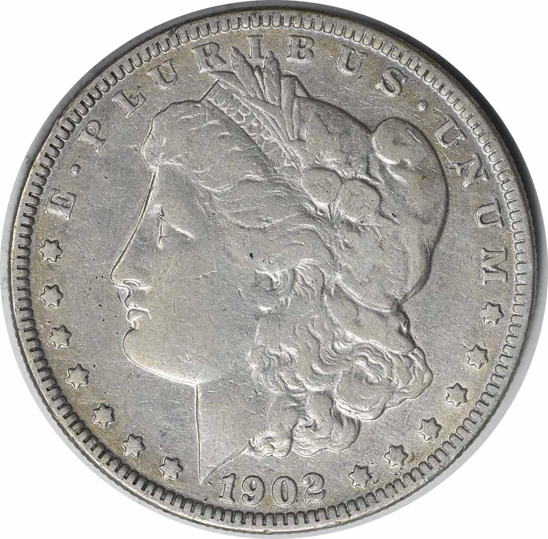 1902-o VAM 3 Morgan Silver Dollar Micro O VF Uncertified