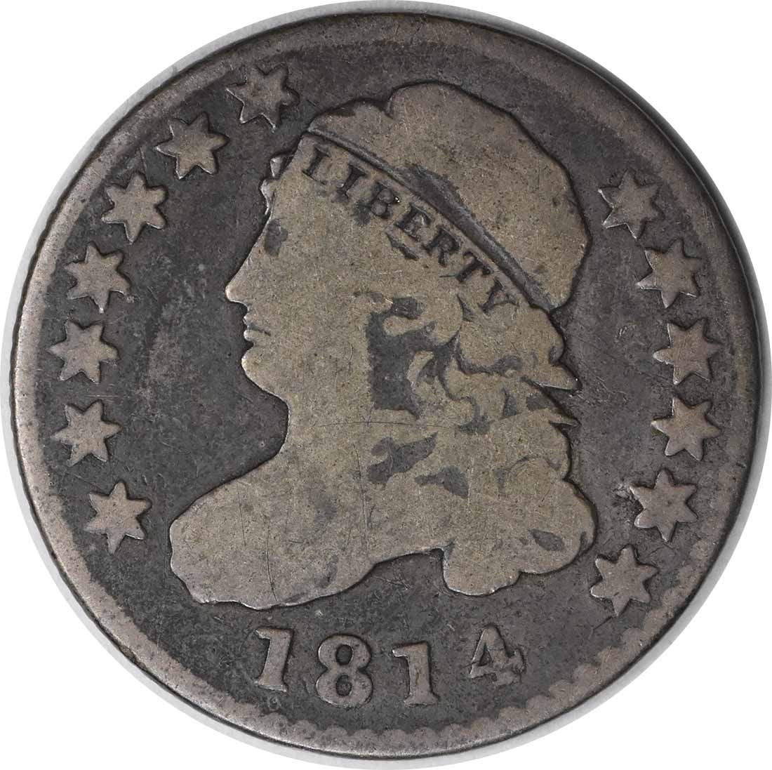 1814 Bust Silver Dime STATESOF VG Uncertified #241