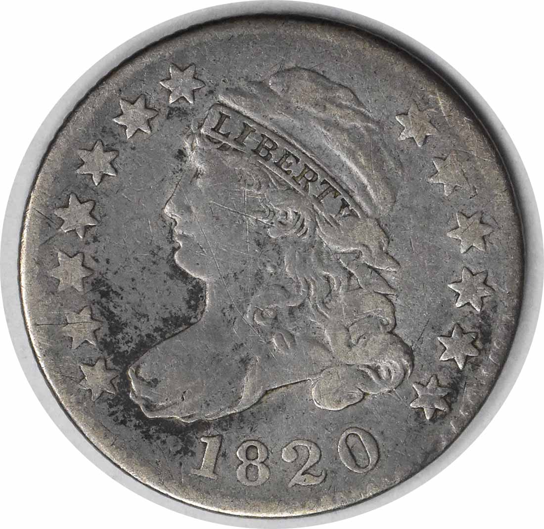 1820 Bust Silver Dime STATESOF Choice F Uncertified #943