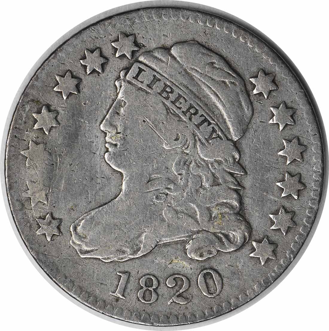 1820 Bust Silver Dime STATESOF VF Uncertified