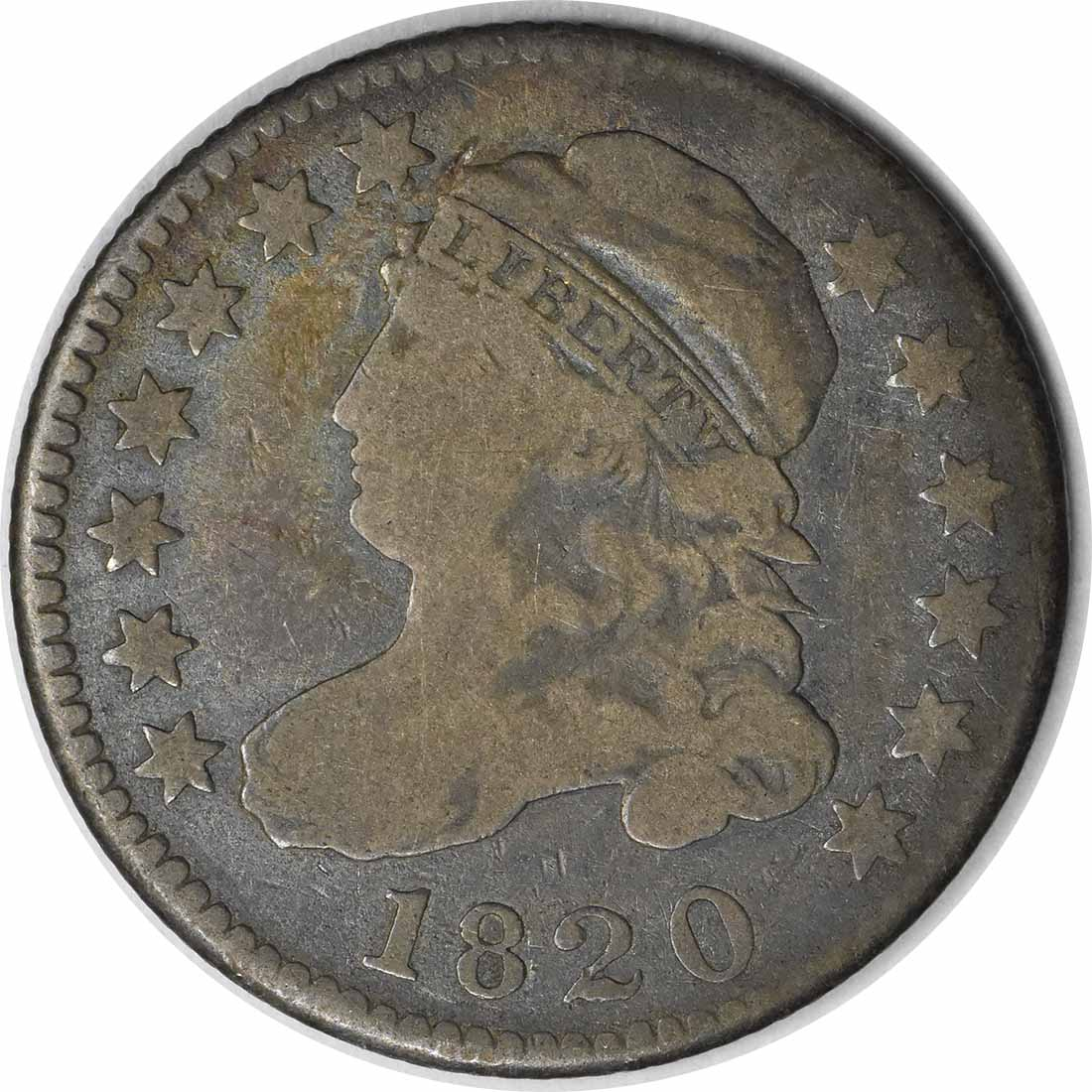 1820 Bust Silver Dime STATESOF VG Uncertified #242