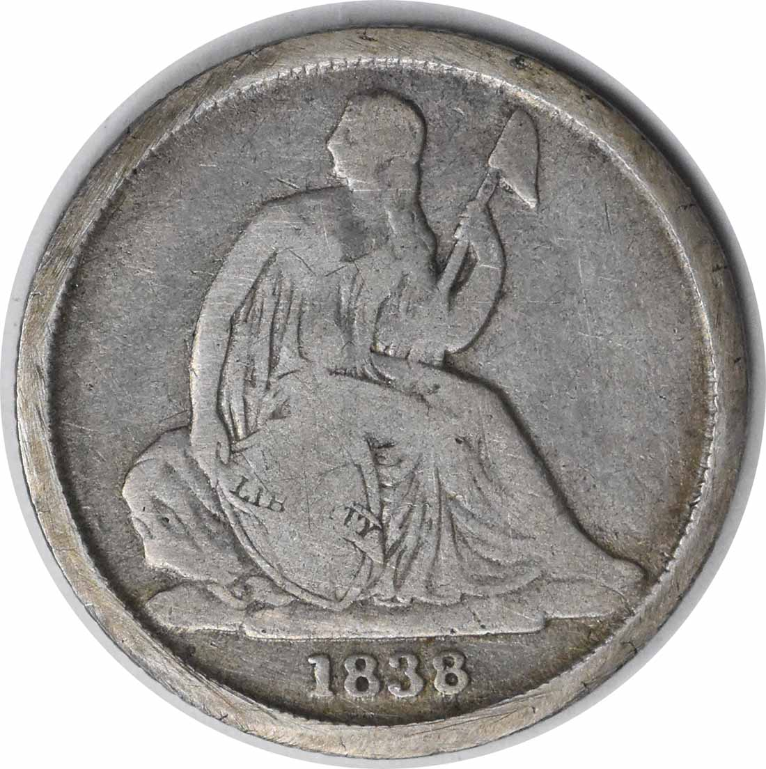 1838-O Liberty Seated Silver Dime No Stars VG Uncertified #144