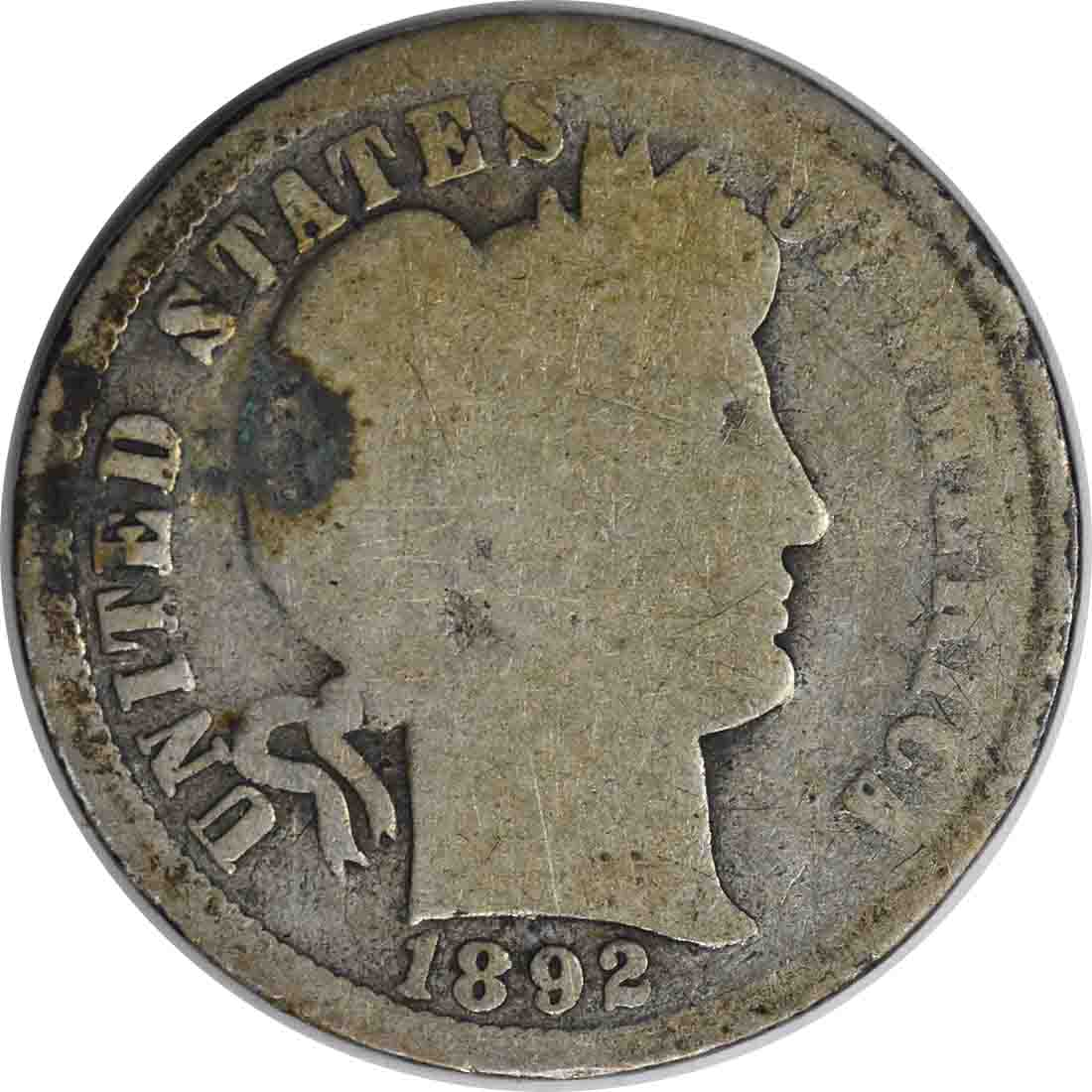 1892-O Barber Silver Dime AG Uncertified