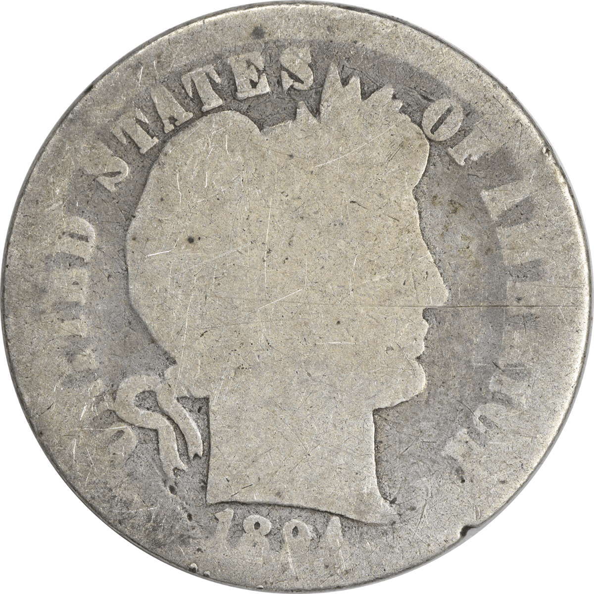 1894 Barber Silver Dime AG Uncertified
