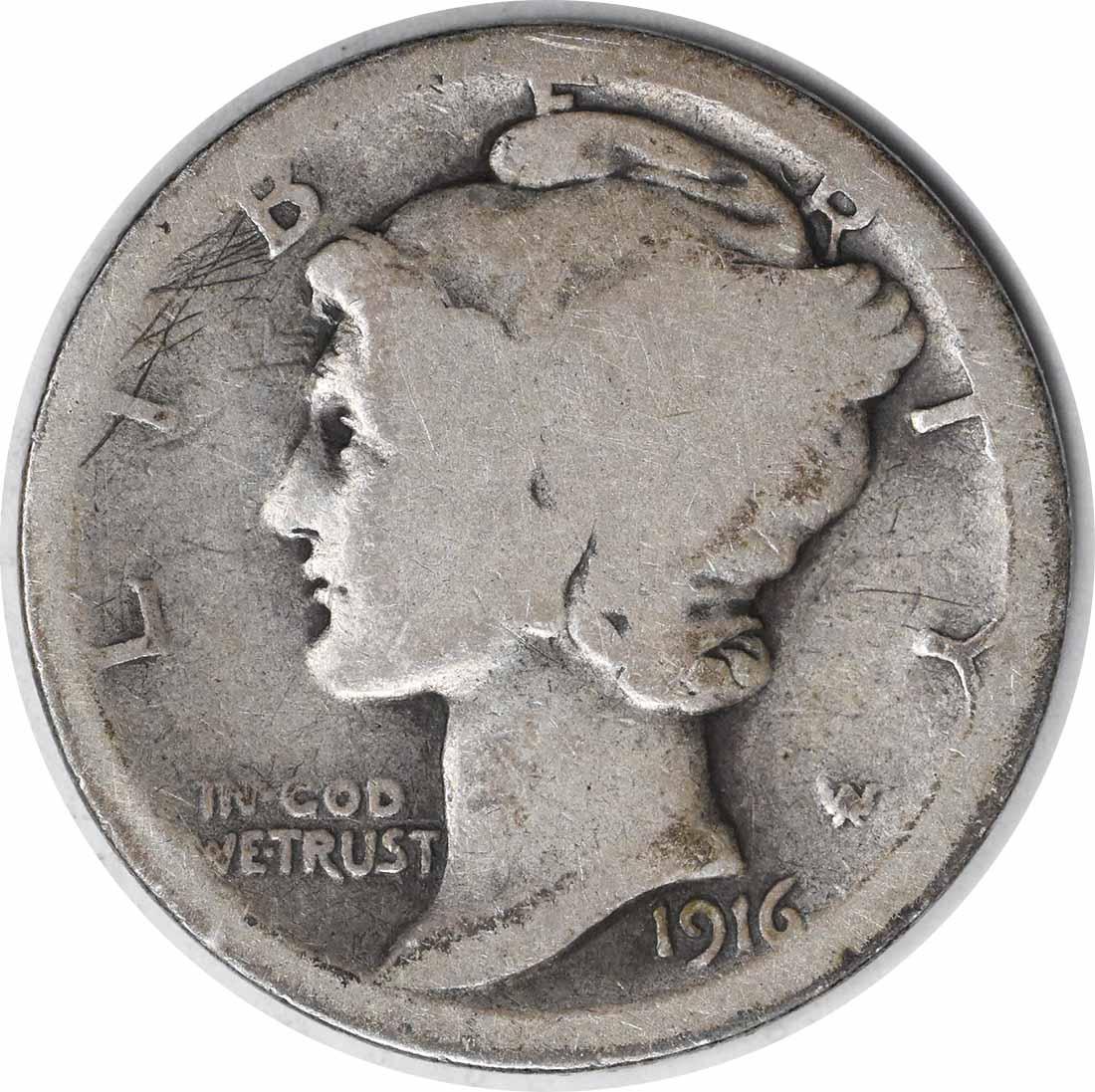 1916-D Mercury Silver Dime G Uncertified #1201