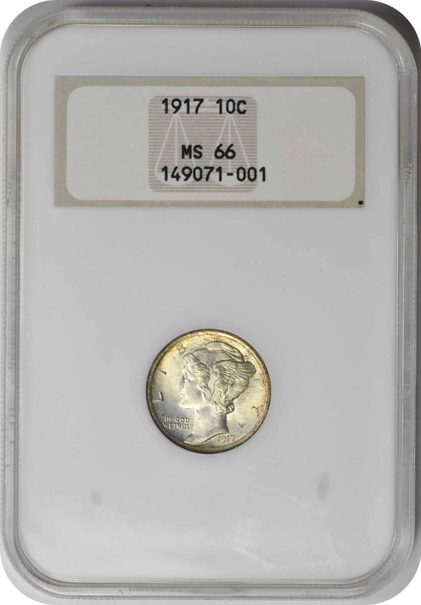 1917 Mercury Silver Dime MS66 NGC