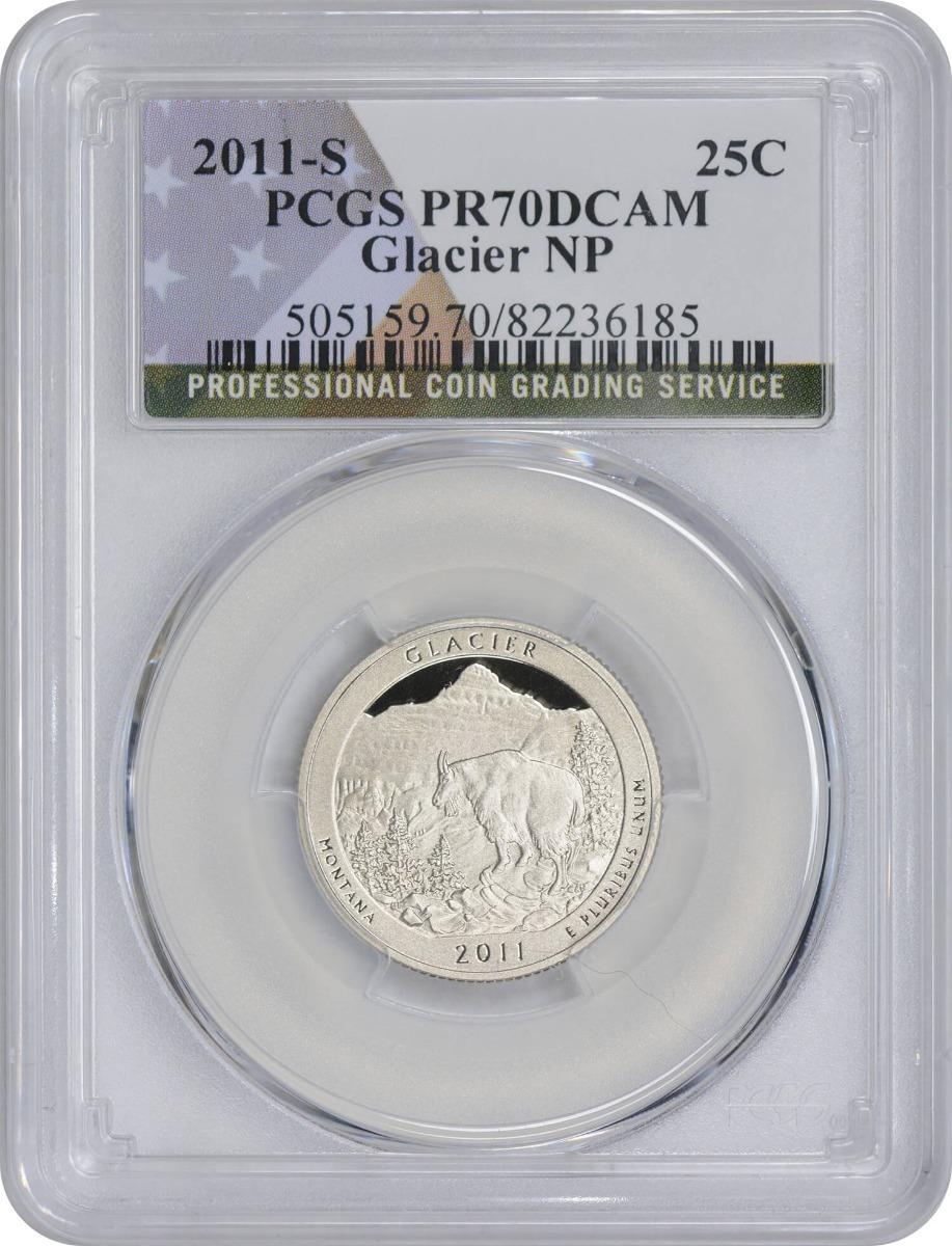 2011-S Glacier Quarter PR70DCAM Clad PCGS (Flag Label)