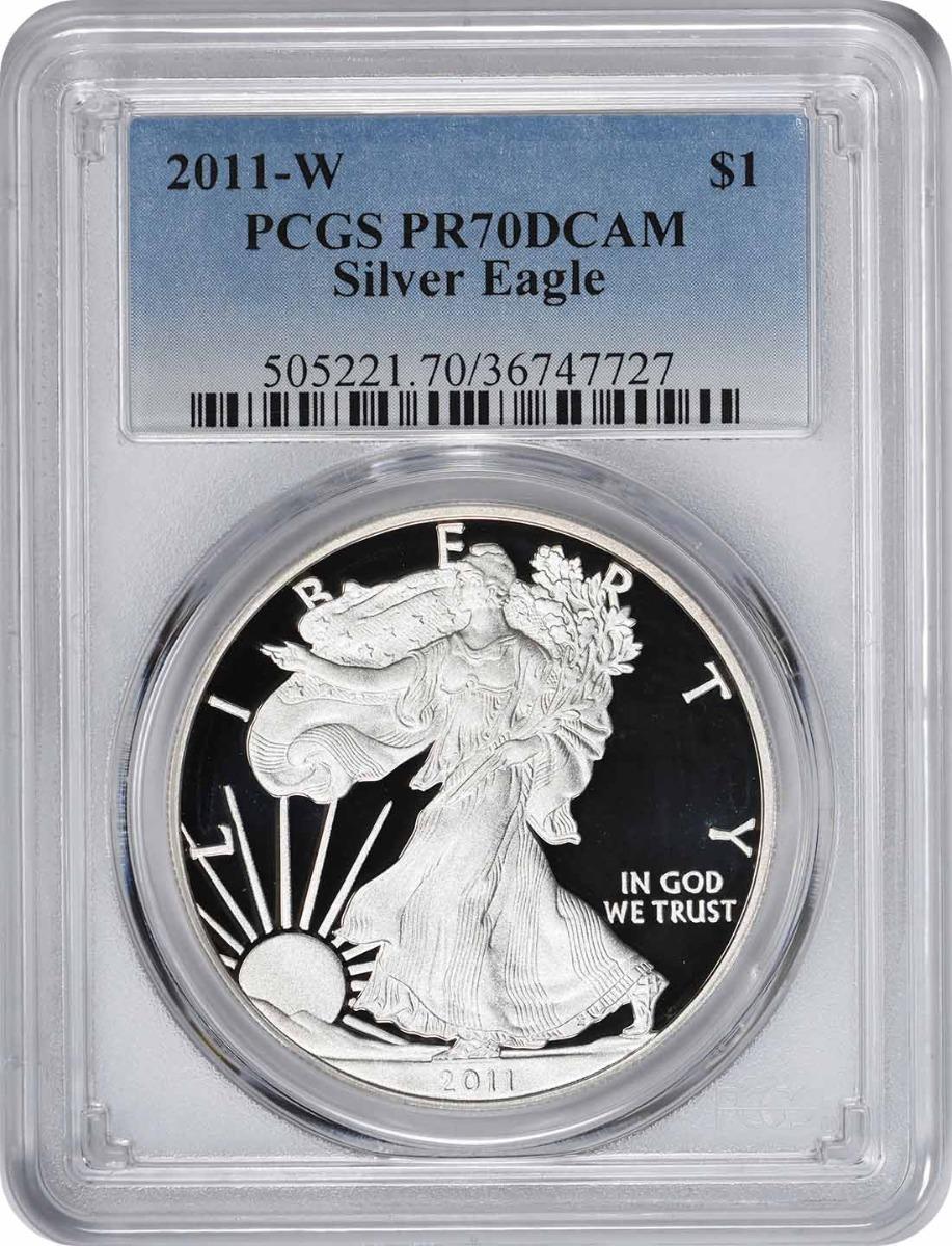2011-W $1 American Silver Eagle PR70DCAM PCGS