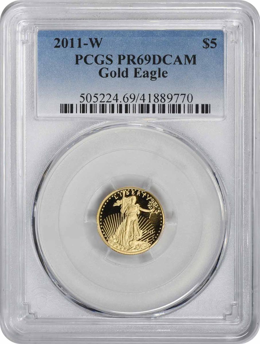 2011-W $5 American Gold Eagle PR69DCAM PCGS