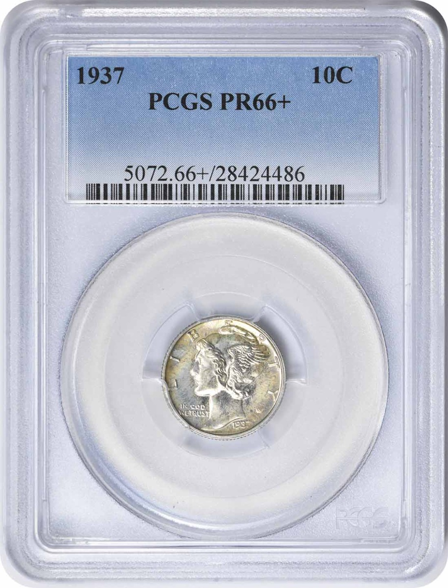 1937 Mercury Silver Dime PR66+ PCGS