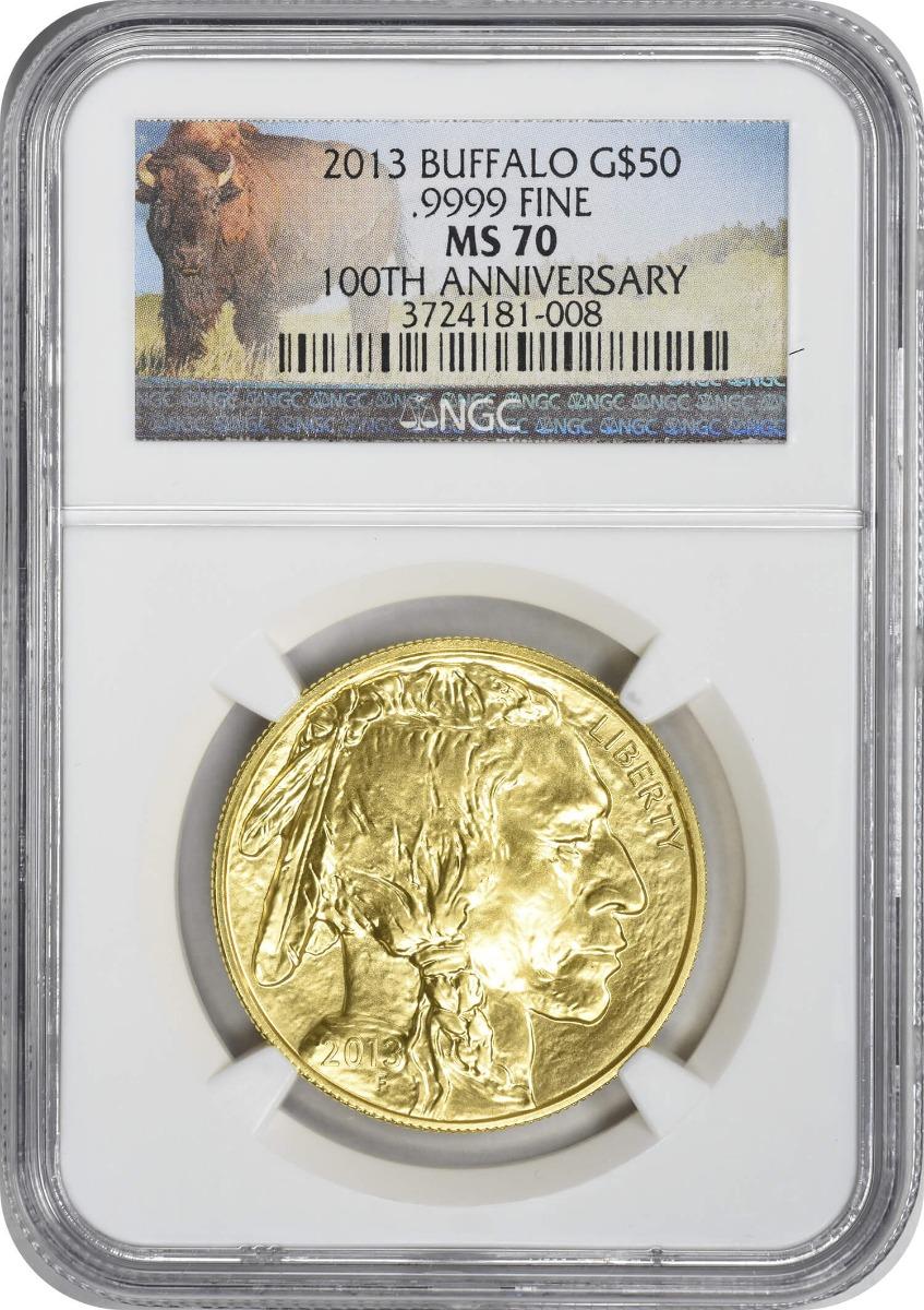 2013 $50 American Gold Buffalo MS70 NGC