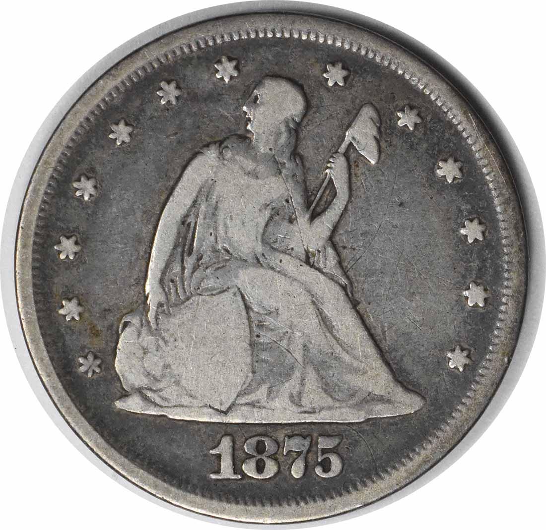 1875 Twenty Cent Silver Piece VG Uncertified #931