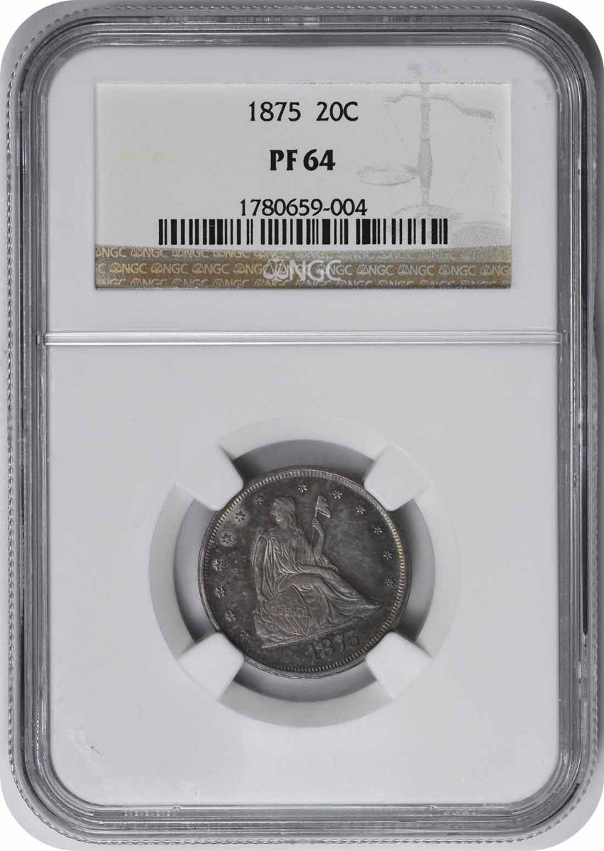 1875 Twenty Cent Piece PR64 NGC