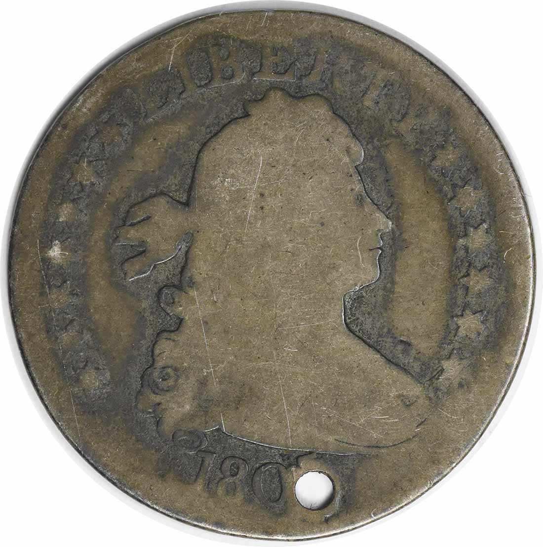 1805 Bust Silver Quarter AG (Hole) Uncertified