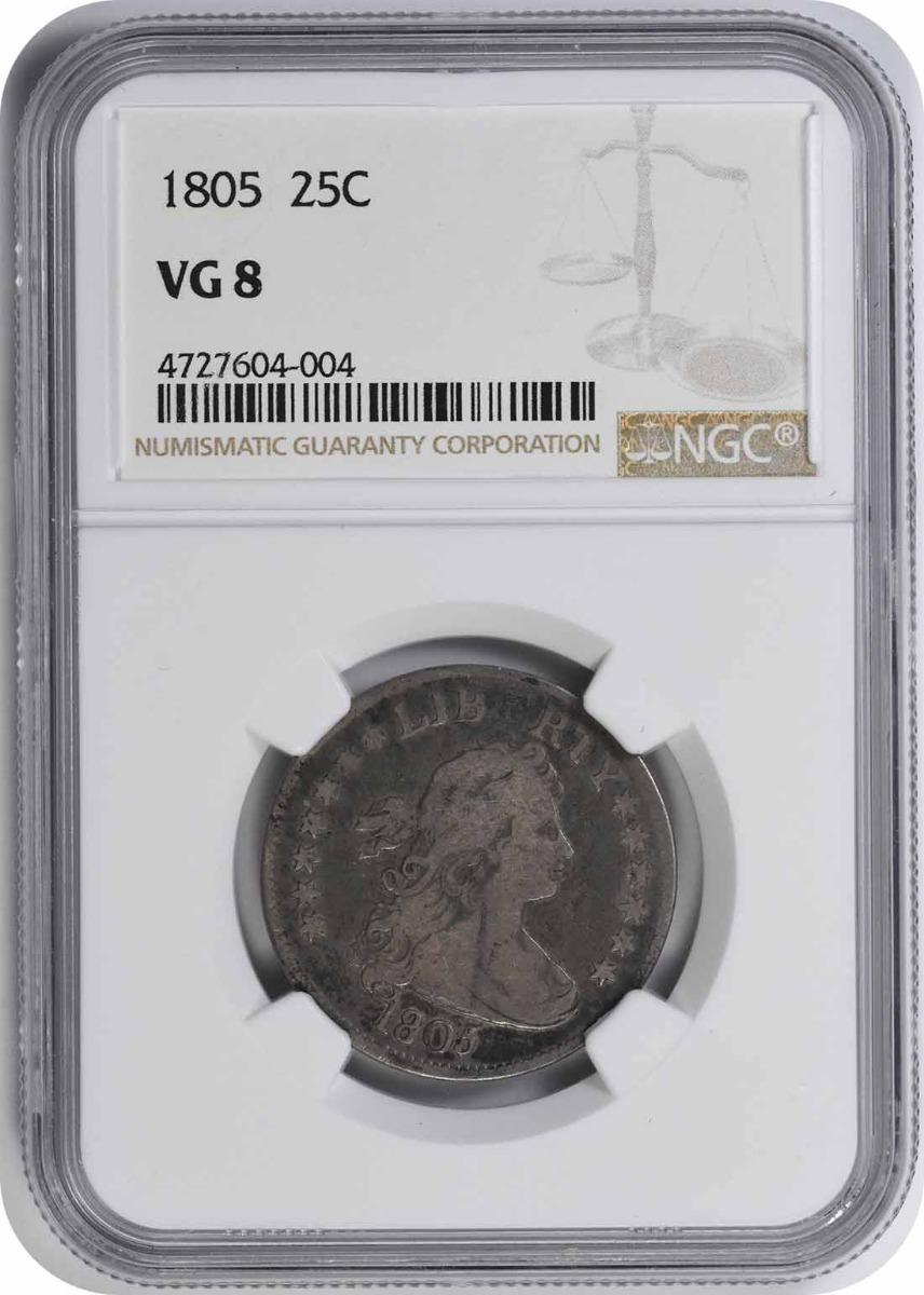 1805 Bust Silver Quarter VG08 NGC
