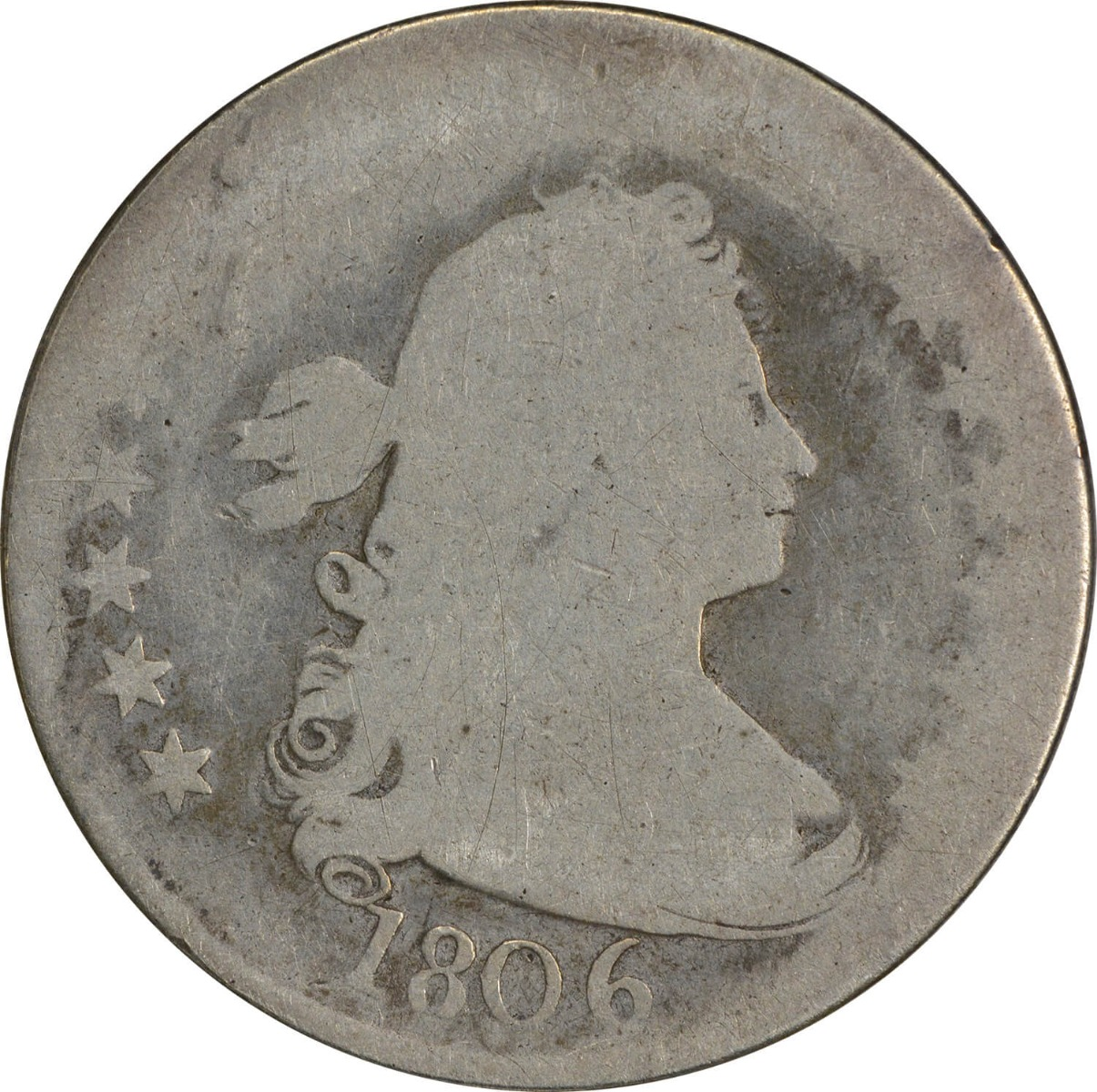 1806 Bust Quarter, AG, Uncertified