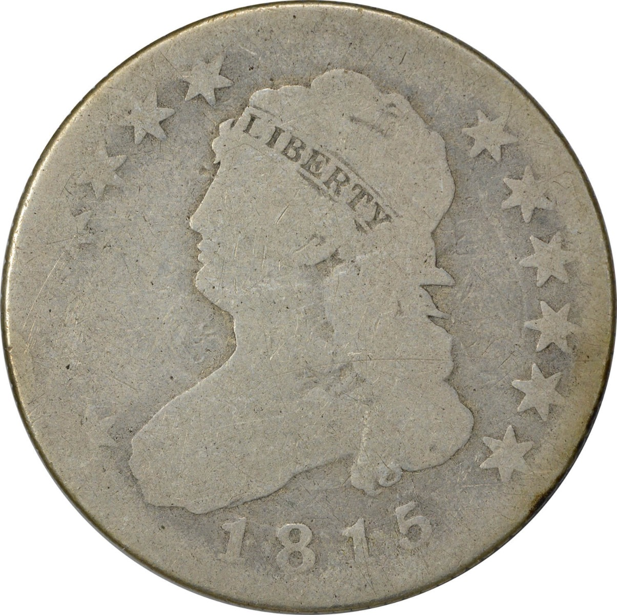 1815 Bust Quarter, G, Uncertified
