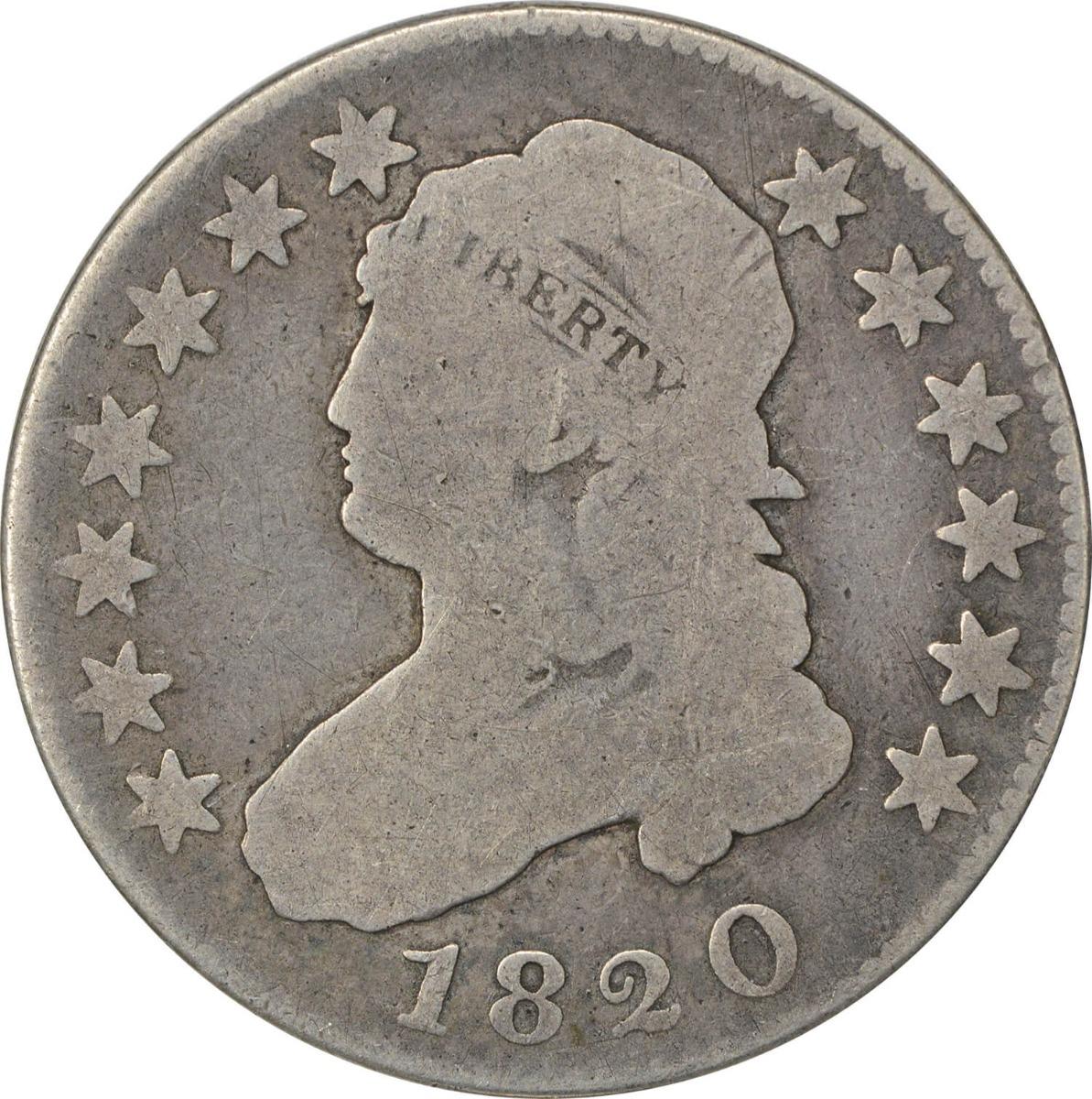 1820 Bust Quarter, VG, Uncertified