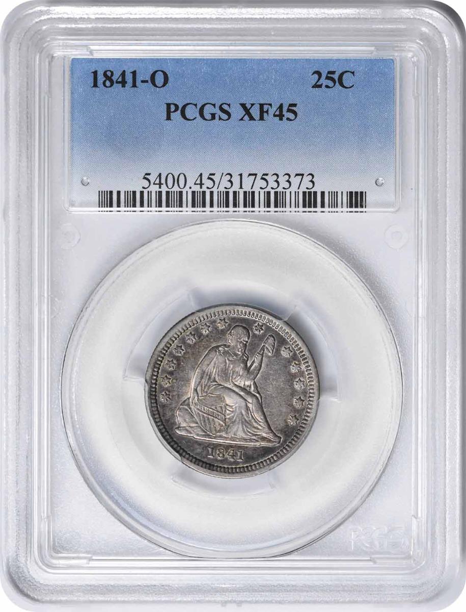 1841-O Liberty Seated Silver Quarter EF45 PCGS
