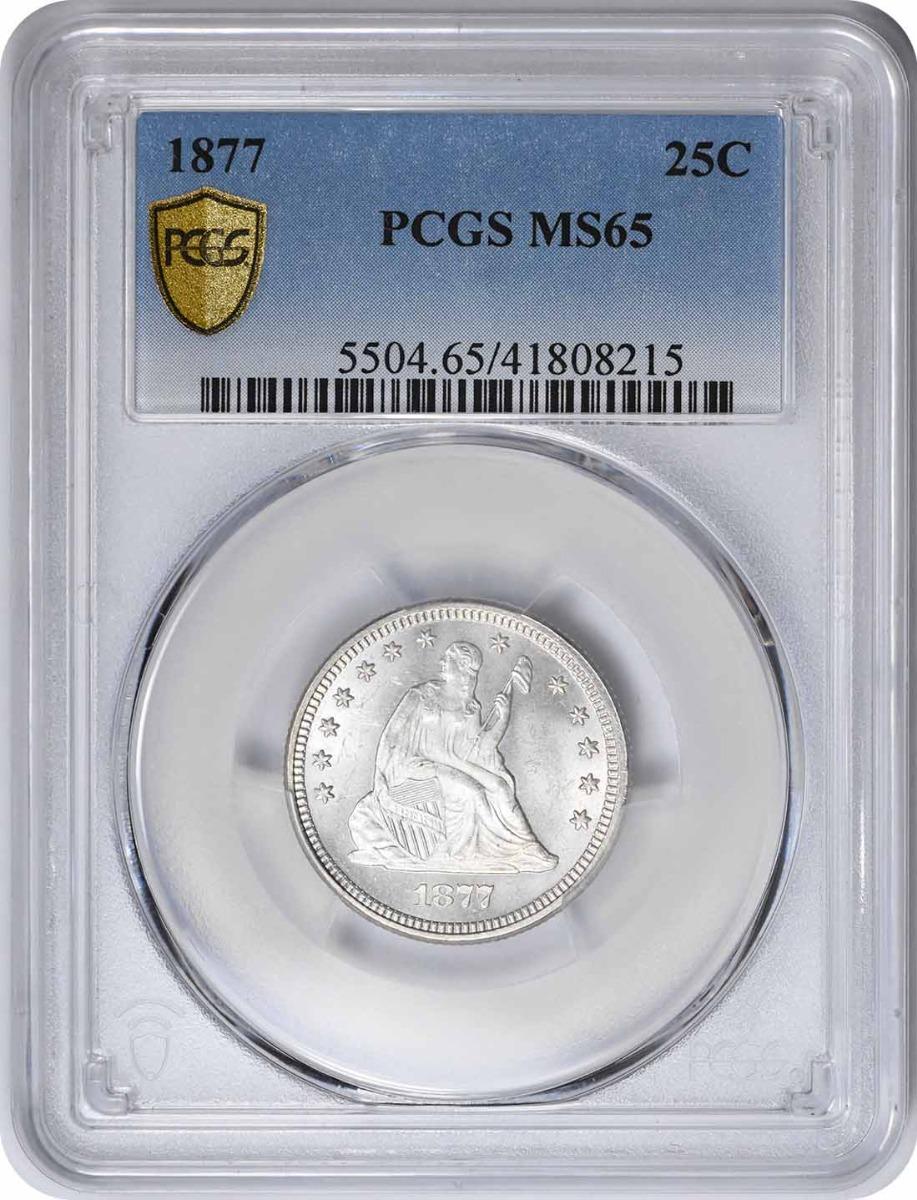 1877 Liberty Seated Quarter MS65 PCGS