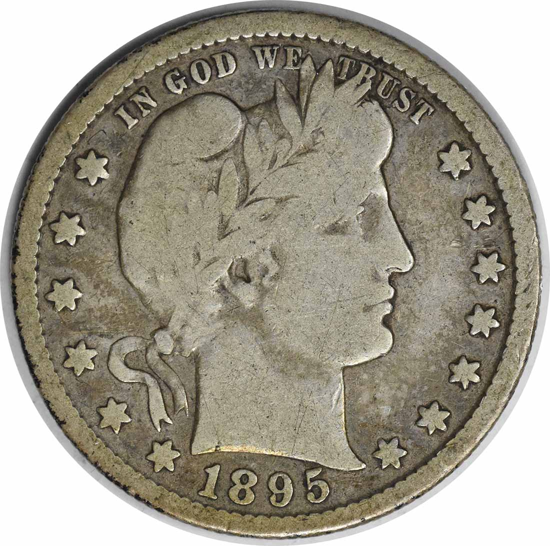 1895-S/S Barber Silver Quarter RPM1 VG Uncertified