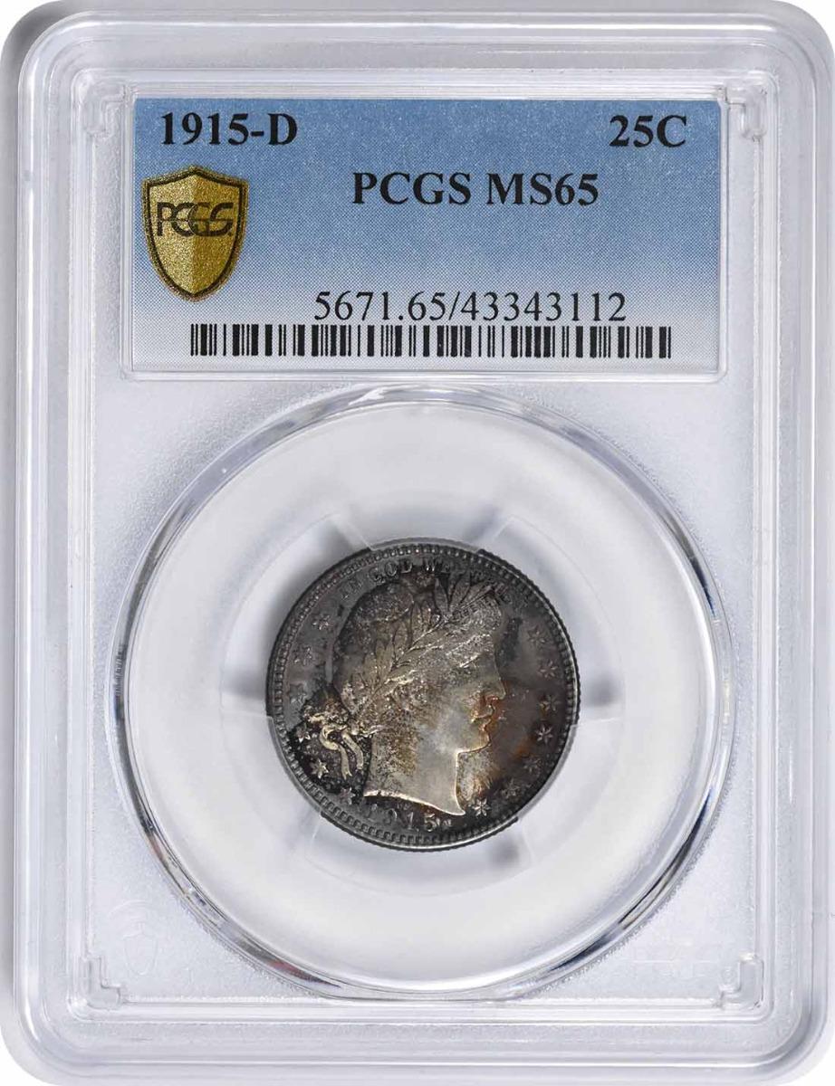 1915-D Barber Silver Quarter MS65 PCGS