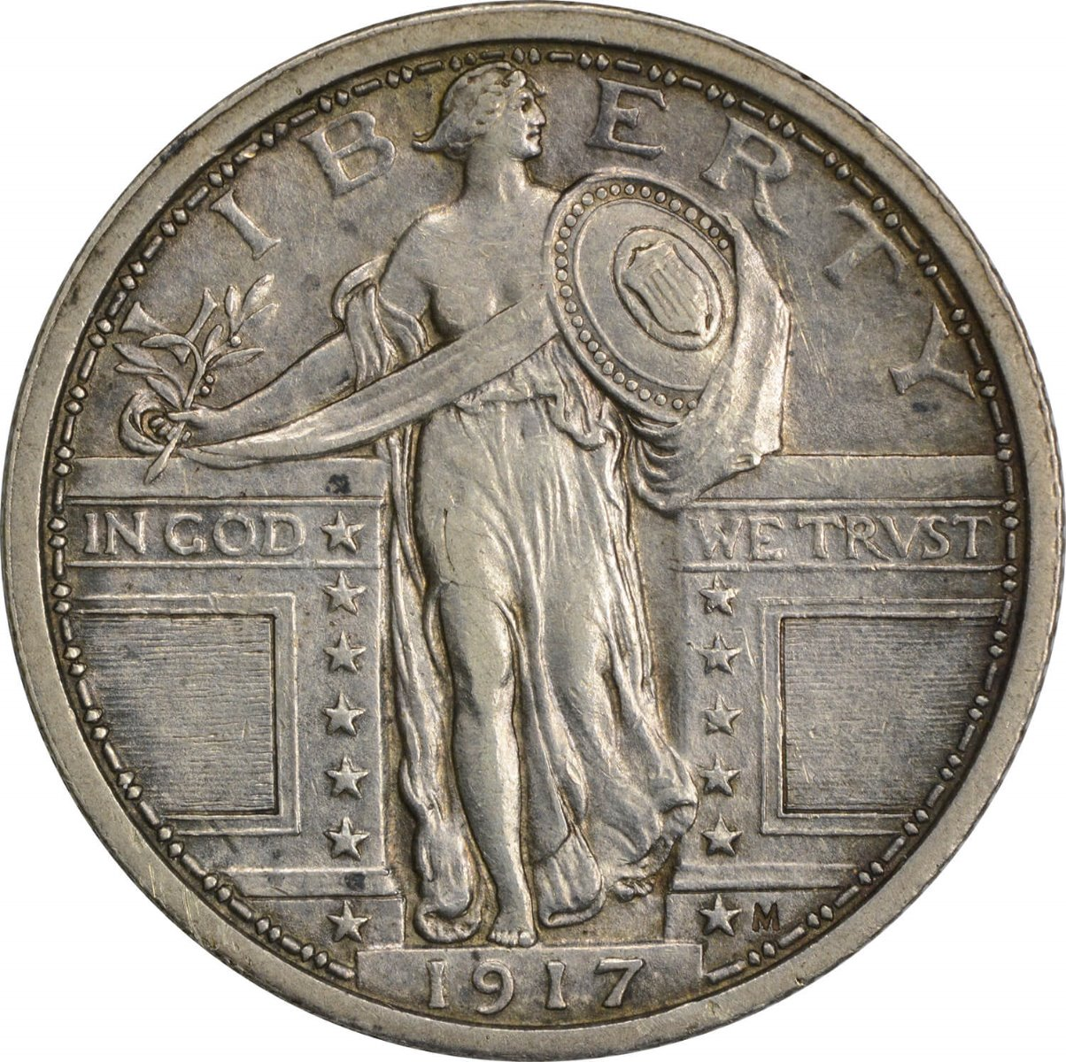 1917 Standing Liberty Silver Quarter Type 1 AU58FH Uncertified